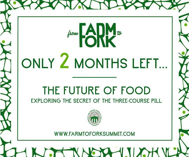The count down to the Green Summit has begun! 🚀 #2moremonths #Farmtofork16 #greensummit #sustainable #food #future #futureoffood #greentech #foodtech #nyc #nycevents #innovation #eatnyc #saccny