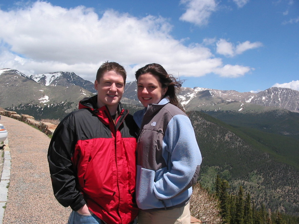 Jeremy and Alexandra in the Rocky Mountains.