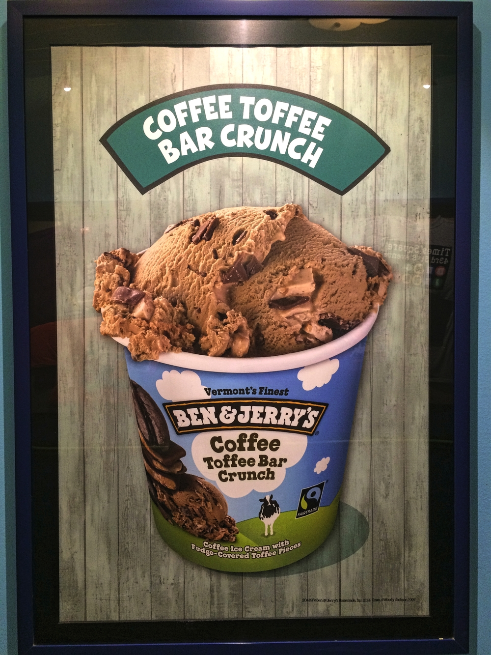 My favorite of the glamor shot ice creams in the Ben & Jerry's factory hallway.