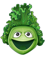 Meet Happy Kale, our educational mascot. Happy Kale gets kids excited about eating their greens and trying new foods.