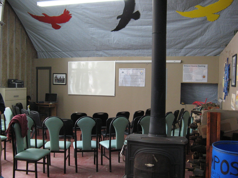 Sacred Earth Lodge classroom