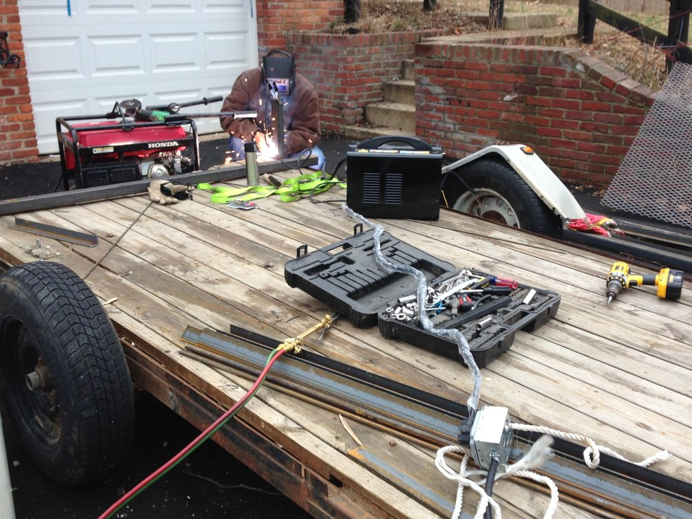 how to rebuild a landscaping trailer part 1