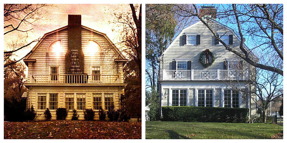 4)  The Amityville Horror (1979) : This 5 bedroom/4 bath (and boat house, of course!) farmhouse in Amityville, NY still exists and was  recently on the market for $850k . The only caveat is that the story behind the movie is based on true incidents, including several deaths caused by the so-called possessed owner. While the home has since been updated, the home's 'bones' are still perfectly intact.  A real-life murder house is not the most attractive selling point for most, making it extremely difficult to sell as a beautiful Upstate New York getaway home. Hopefully whoever buys it has a penchant for the supernatural or at the very least really enjoys Halloween and scaring the neighboring children.