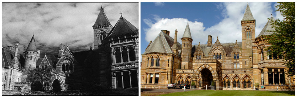 "10)  The Haunting of Hill House (1963) : Originally named ""The Haunting"" before being re-titled after the book upon which it was based, this High Victorian Neo-Gothic mansion is now the popular  Ettington Park Hotel  in Warwickshire, England. The 48-bedroom mansion sits on 40 acres of countryside and is  reportedly haunted by various former residents  who passed away in the mansion. The hotel has even earned the title of the  Most haunted Hotel in the UK  with numerous guests witnessing a woman identified as 'Lady Emma' in a white dress floating around the hotel and disappearing into walls. Other apparitions include a woman in Victorian garb near the conservatory, a floating candle near the fireplace, a grey lady that floats regularly around the staircase, a monk, and army officer and the children of the old owners who drowned in the nearby river in the 1800s."