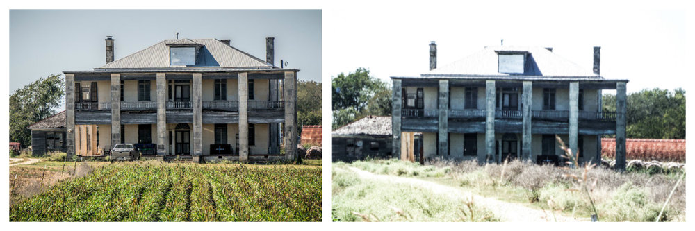 "3)  The Texas Chainsaw Massacre (2003) : Now you may notice this house looks different than the house in the original Texas Chainsaw film from 1974. This is because the original Kingsland, TX Victorian house was built in the early 1900s and was in such disrepair that it was unable to be maintained, so it was disassembled into multiple pieces and was relocated to Round Rock, TX in 1998 where it was restored and is now a restaurant. The house pictured above is referred to as ""The Hewitt House"" and was featured in the first ""Texas Chainsaw Massacre"" remake from 2003 and then later used in the 2006 prequel ""The Texas Chainsaw Massacre: The Beginning."" This creepy six bedroom farmhouse quickly became a horror icon, attracting tourists to its remote location in Granger, TX where visitors soon found out was owned and maintained by very reclusive and unfriendly owners. Littered with ""No Trespassing"" and ""Keep Out"" signs, it is highly advised to stay off the property and only take pictures from the road unless you want to be a real-life statistic of visitors not making it off the property alive."