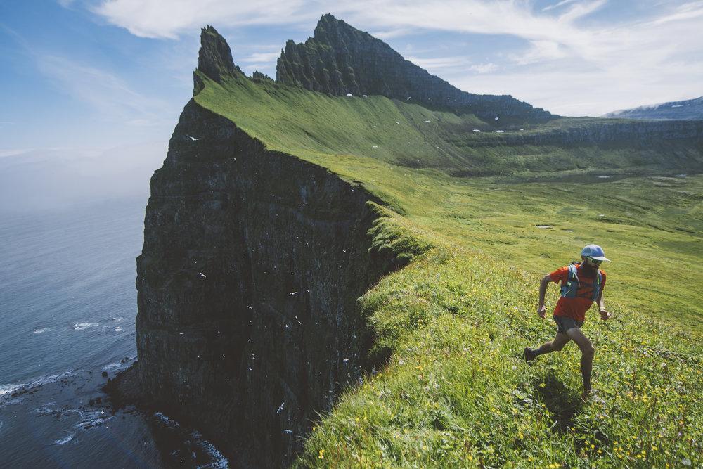 Rob Krar running in the Hornstrandir nature reserve