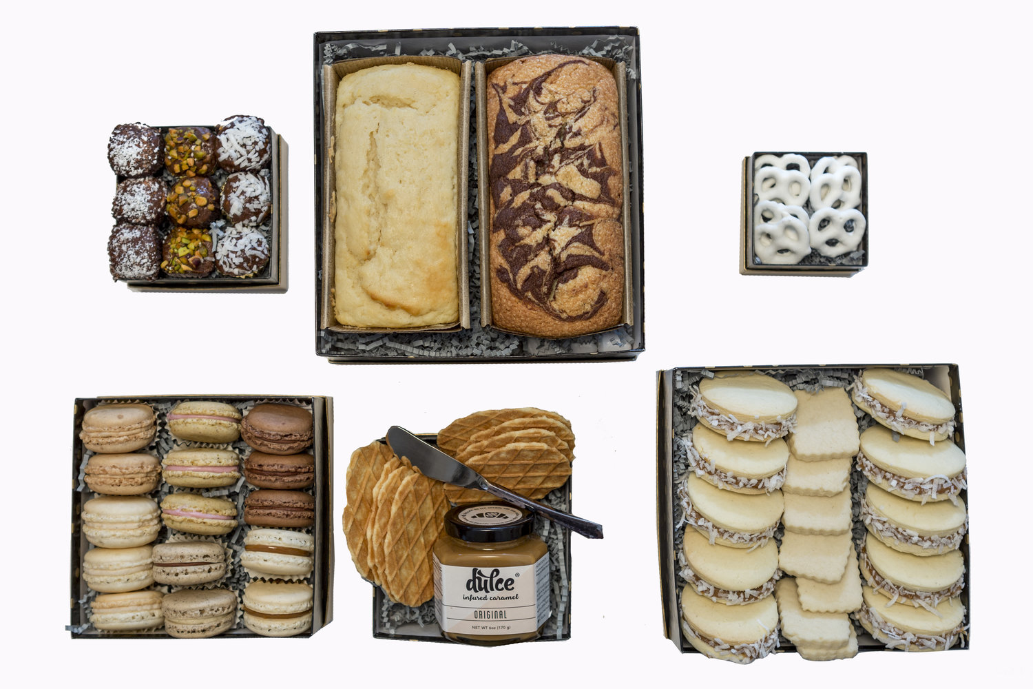 Deluxe gift basket soft peaks confections french macarons los deluxe gift basket negle Gallery