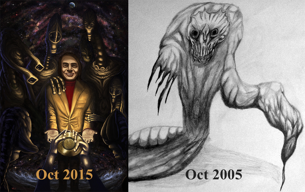 Progress shot from two images from 2015 to 2005.