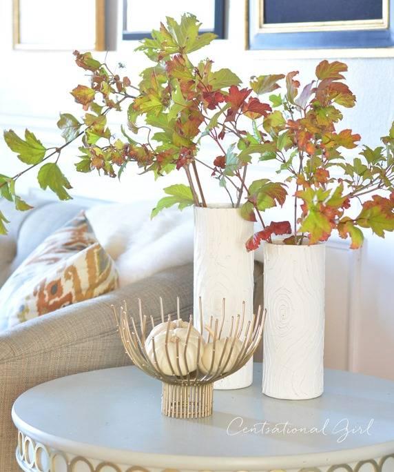 Centsational Girl - fall-leaves-faux-bois-vases