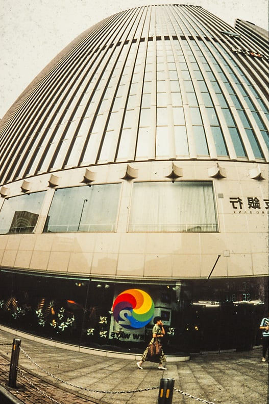 The O2 NEW WAYS expo was in The SEIBU YARAKCHO departmentstore once placed in this very prominent building in the Ginza district in Tokyo. The store closed in 2010. Photo: Per Morten Abrahamsen