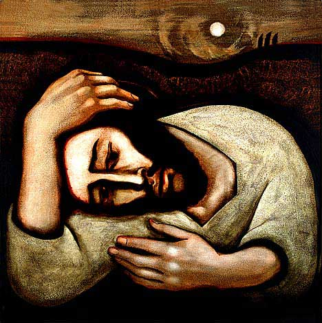 """Christ in Gethsemane"" by Michael D. O'Brien."