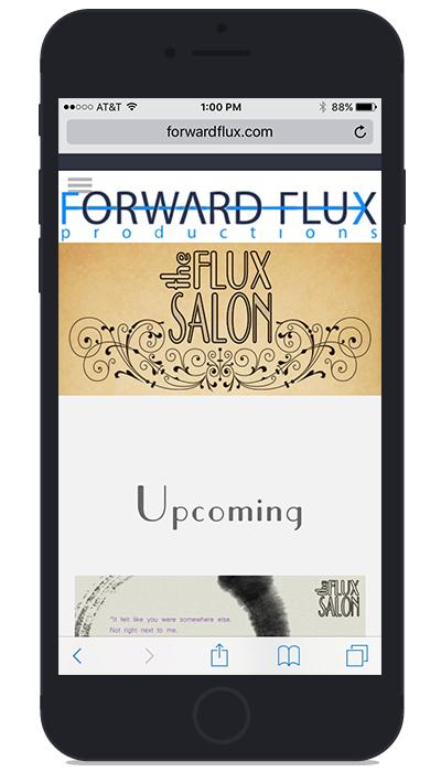 Forward Flux's current landing screen