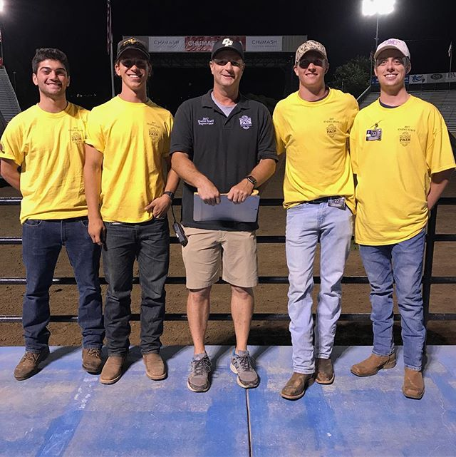 Brothers Nick, Conner, Cody, and Brett helping the community by working security at the Mid State Fair last week!
