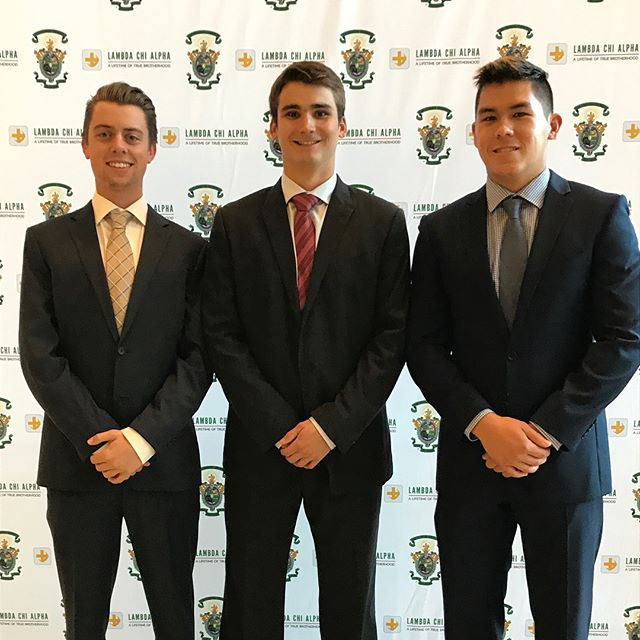 Brothers Brett, Joe, and Trevor represented our chapter this past weekend by attending the STEAD Leadership Conference at UCLA and serving at the LA Food Bank! #lambdachi #calpoly