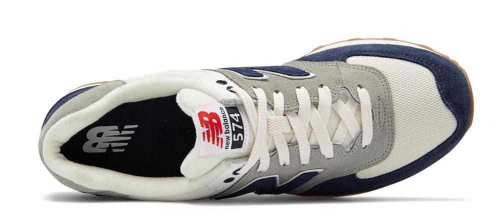 New Balance 574 Retro Navy/White $80