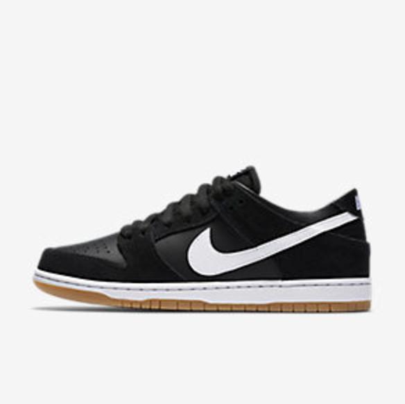 Nike SB Dunk Black/White/Gum $90