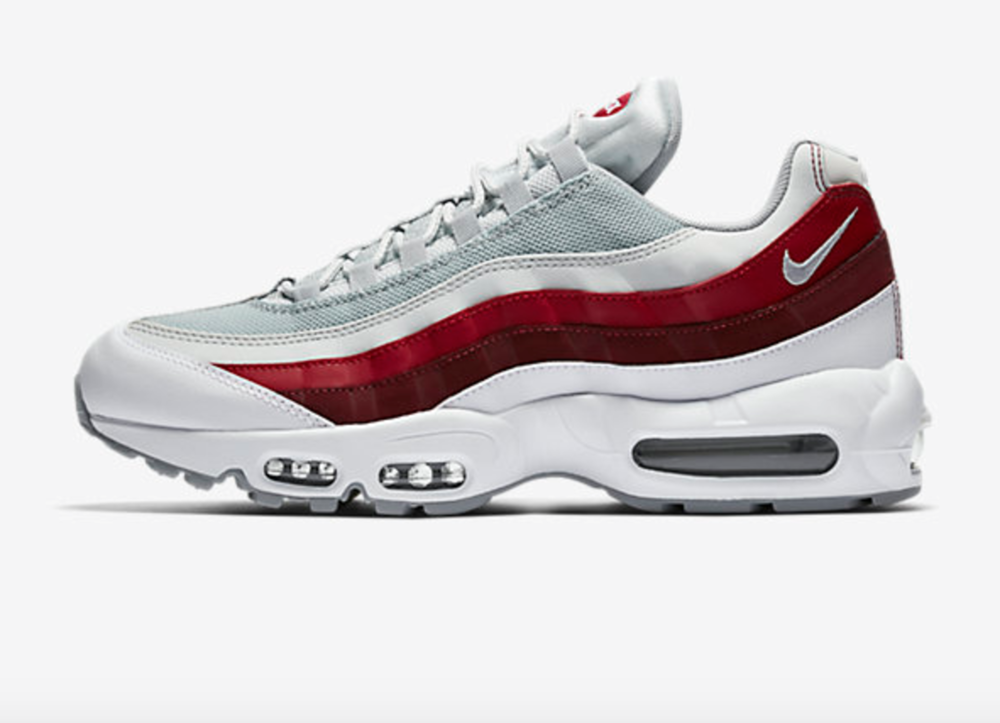 Nike Air Max 95 Essential White/Wolf Grey/Red $160