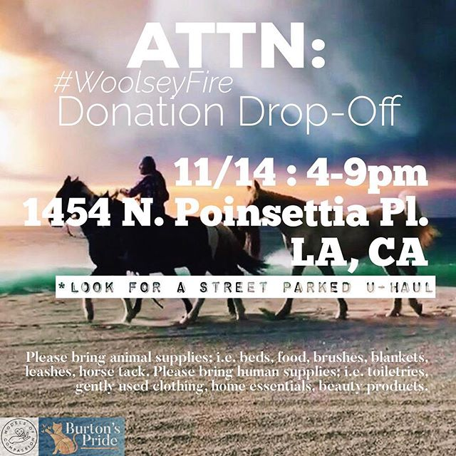 #ModelsofCompassion X @burtonspride donation drop-off in Los Angeles 11/14! We will be hosting this many days to come if you can't make this one, and more locations to come! Please spread the word and repost 💙 #WoolseyFire