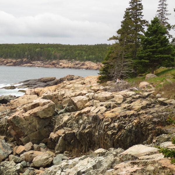 Coastline of Mount Desert Island in Maine
