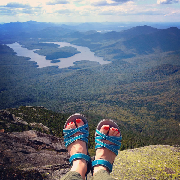 View of Lake Placid from Whiteface Mountain