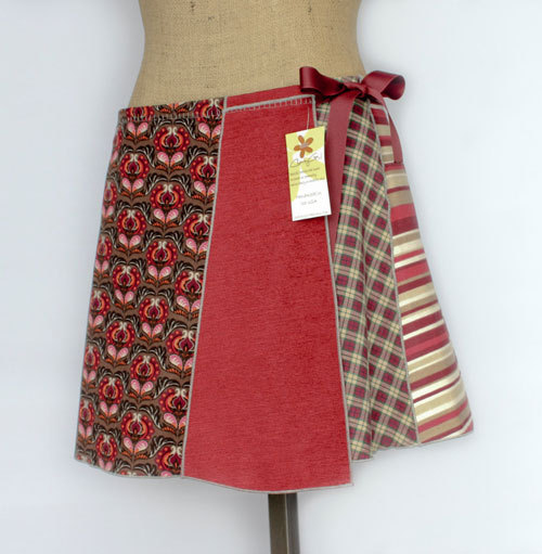 Charley Girl  crafts one-of-a-kind, handmade skirts with no two alike! Each piece combines designer fabrics, upcycled fabrics, reclaimed samples, remnants & roll ends which would normally be discarded.