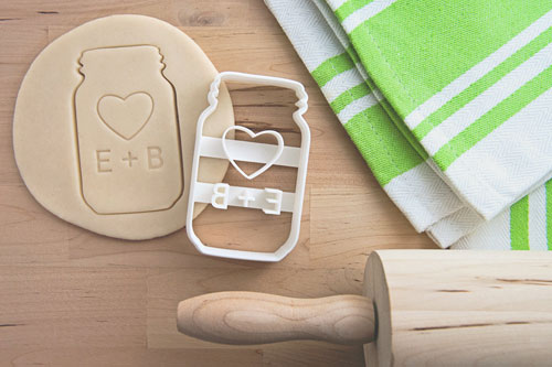 Personalized cookie cutters made by  Printsicle  are available in their shop.