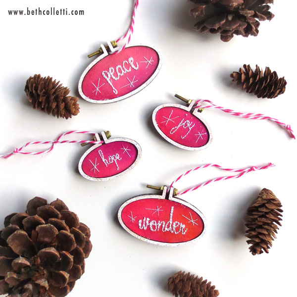 Mini Boho Chic Christmas Ornaments by Beth Colletti