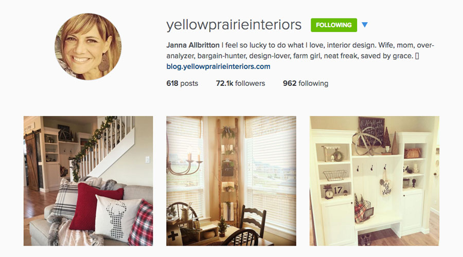 Yellow Prairie Interiors Instagram Feed