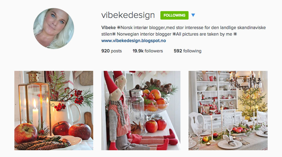 Vibeke Design Instagram Feed