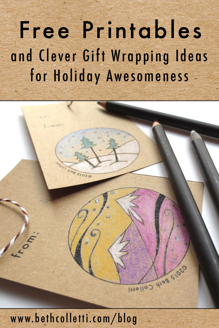 Free Printables and Clever Gift Wrapping Ideas for Holiday Awesomeness