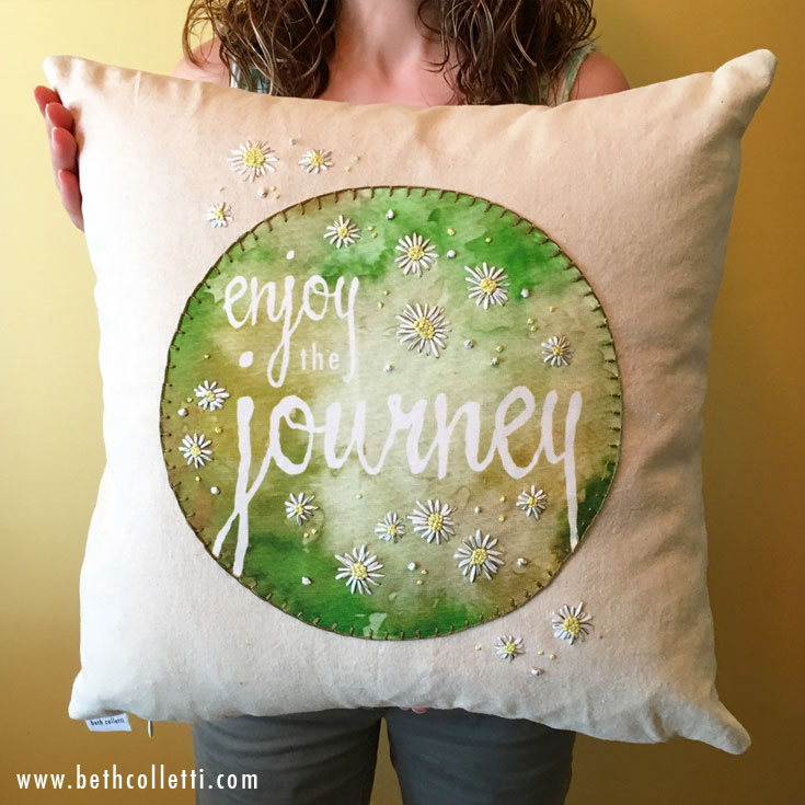 Enjoy the Journey 16x16 Pillow by Beth Colletti