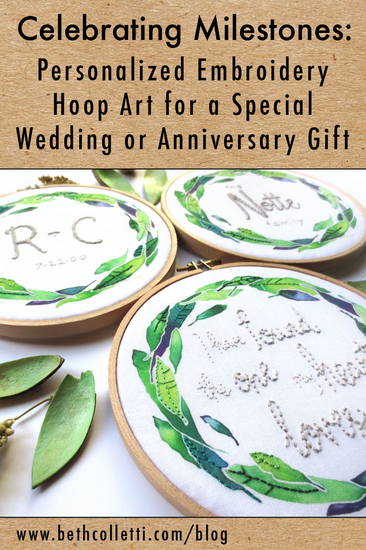 Celebrating Milestones: Personalized Embroidery Hoop Art for a Special Wedding or Anniversary Gift