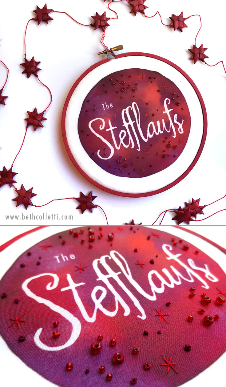 Beth Colletti Art Custom Name Hoop
