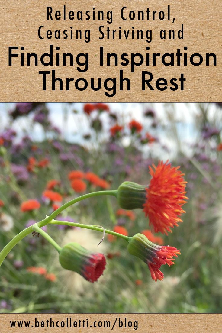 Releasing Control, Ceasing Striving and Finding Inspiration Through Rest