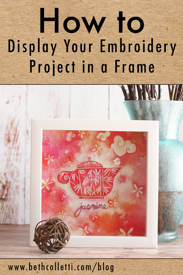 How to Display Your Embroidery Project in a Frame