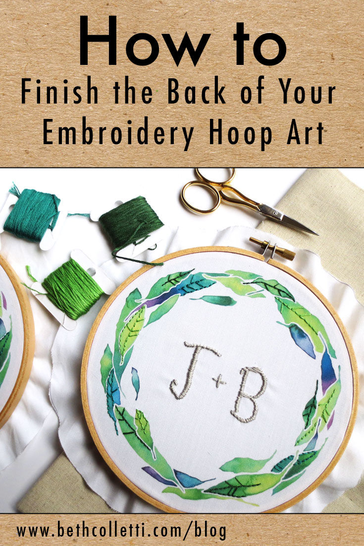 How to Finish the Back of Your Embroidery Hoop Art