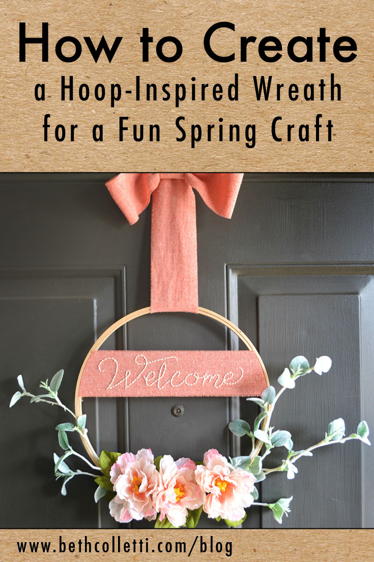 How to Create a Hoop-Inspired Wreath for a Fun Spring Craft