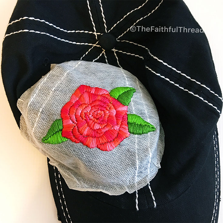 24822b75f How to Hand Embroider a Feminine Floral Motif on Your Baseball Cap ...