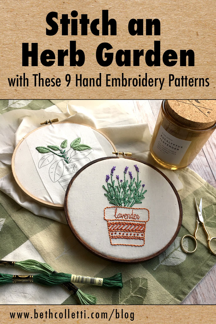 Stitch an Herb Garden with These 9 Hand Embroidery Patterns