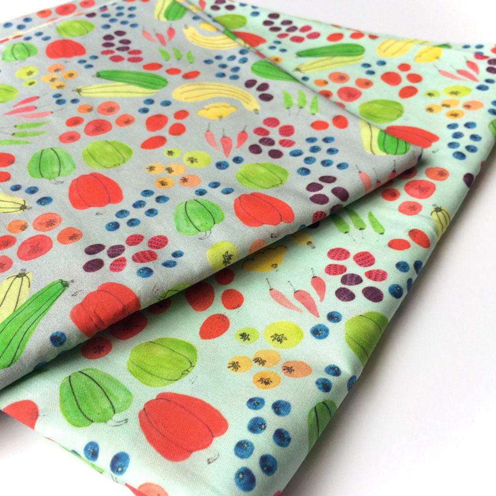 "Yuko's ""Eat a Rainbow"" fabric is available on  Spoonflower !"