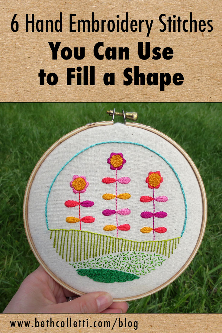 6 Hand Embroidery Stitches You Can Use to Fill a Shape