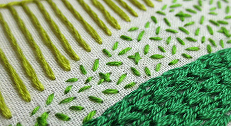 6 Hand Embroidery Stitches You Can Use to Fill a Shape — Beth