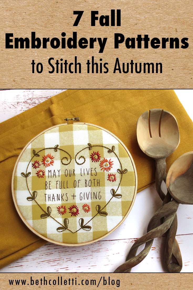 7 Fall Embroidery Patterns to Stitch this Autumn