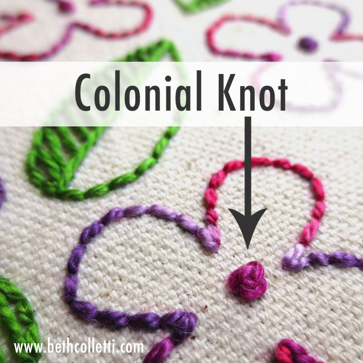 Create Varying Textures in Your Embroidery with the Colonial Knot!