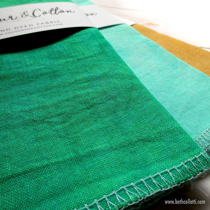 I'm loving my hand dyed linen from  Colour and Cotton .