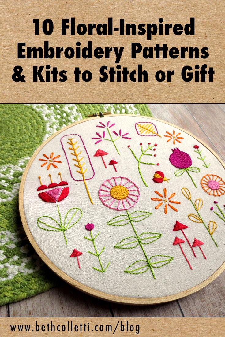 10 Floral-Inspired Embroidery Patterns & Kits to Stitch or Gift