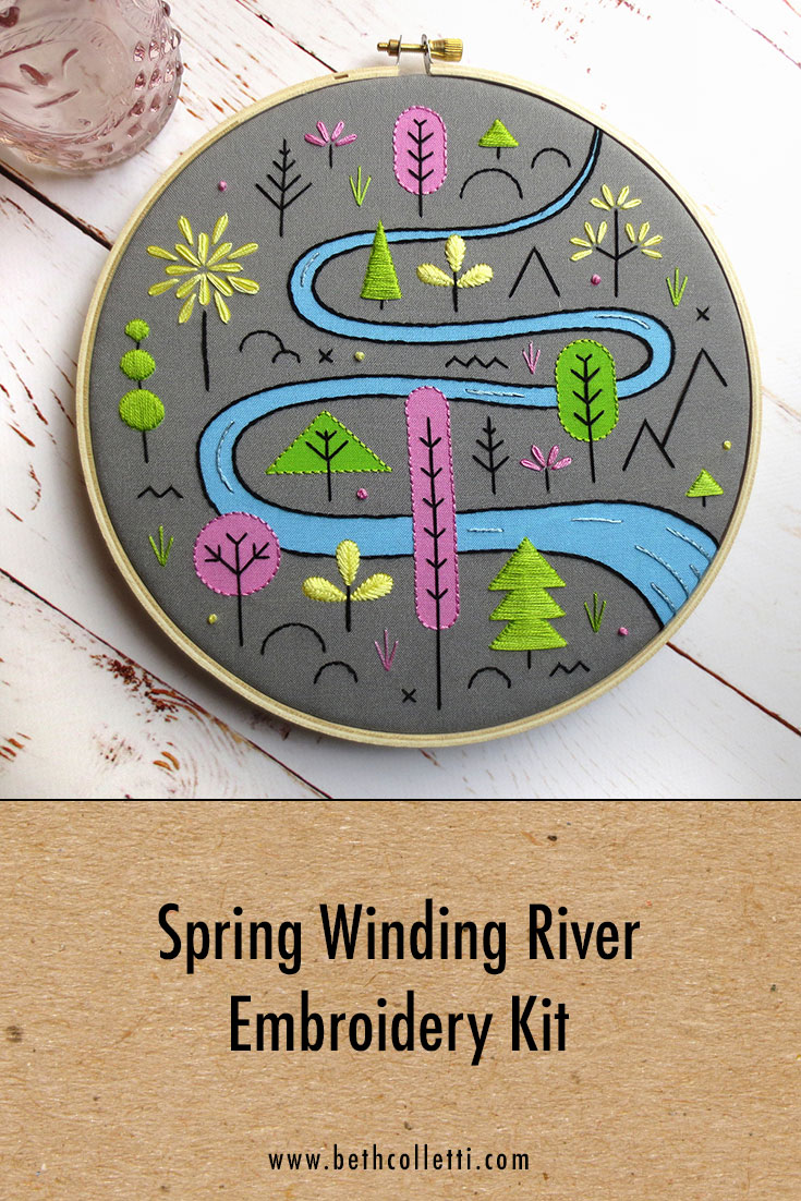Spring River Embroidery Kit