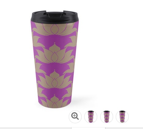 Lucky Lotus Violet Magenta Travel Mug.jpg