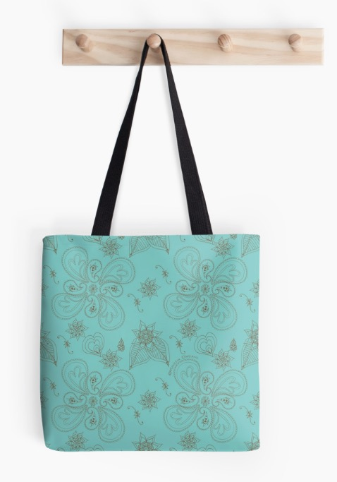 Paisleys Tote Pale Cyan Green.jpg