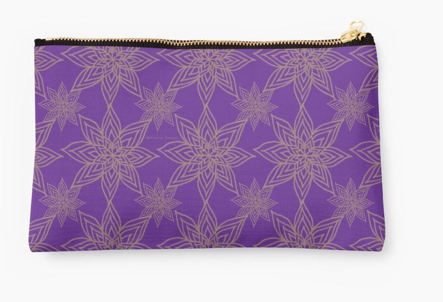 Studio Pouch Pure Violet Poinsettia Gold.jpg